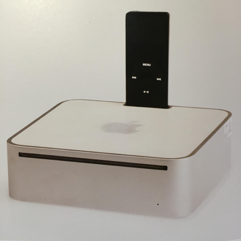 Prototype Mac mini with iPod dock