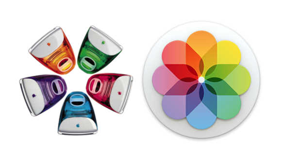 Colored iMacs and Photos icon