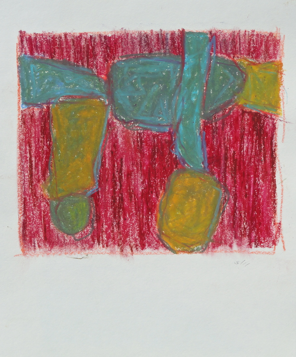 oil pastel 2011 6 1/2 x 7 1/2