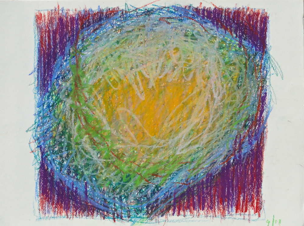 "8 x 8 3/4"" oil pastel 2011"