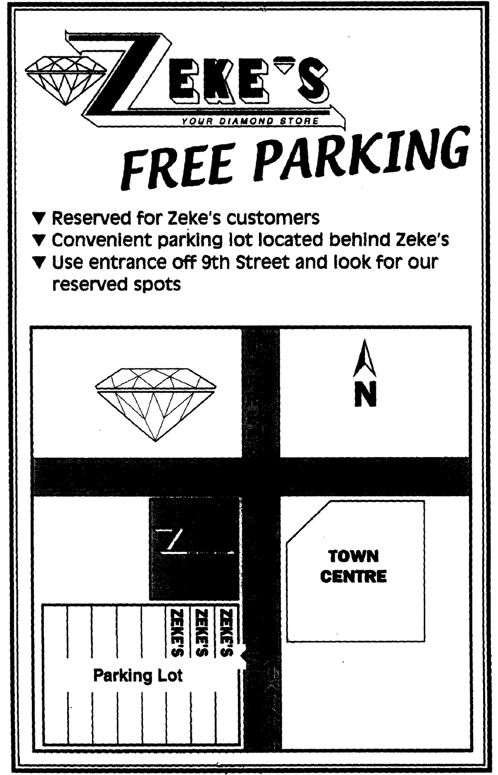 Zeke's Free Parking Map