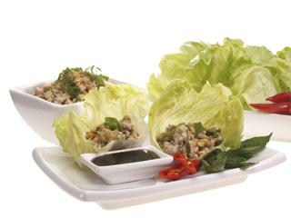sang choi bau lettuce wraps