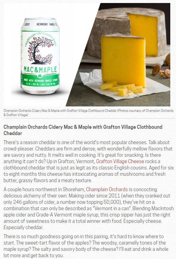 5 OF THE BEST LOCAL CIDER AND CHEESE PAIRINGS - May 3, 2018New England is home to dozens of producers, each making their own array of amazing foods and beverages. It's top-notch stuff and happens to play nicely together.By Adam Centamore
