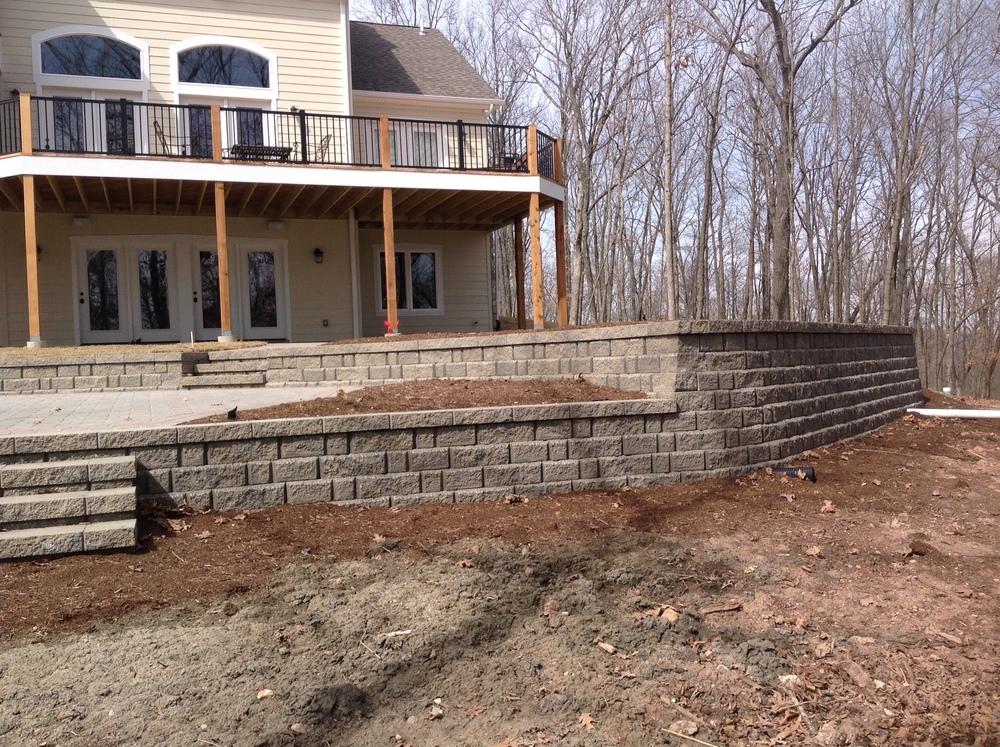retaining wall landscape design hackmann lawn & landscape