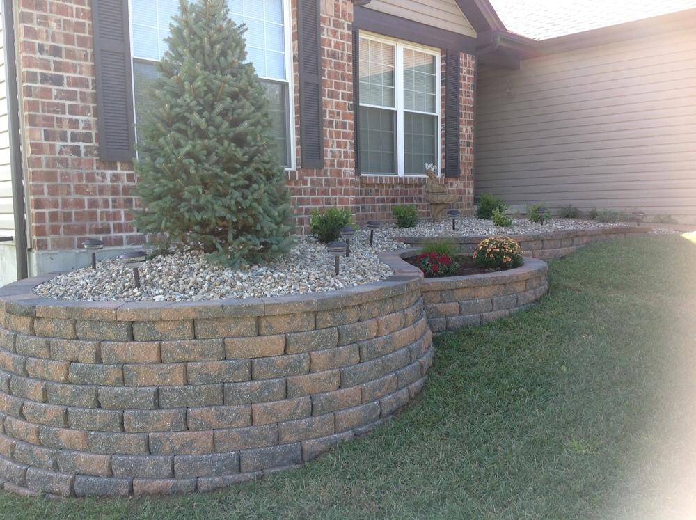 retaining wall st louis landscape design hackmann lawn & landscape