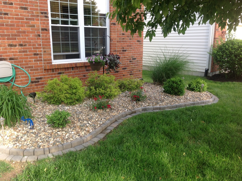 Bushes and Lawn Pavers by Hackmann Lawn