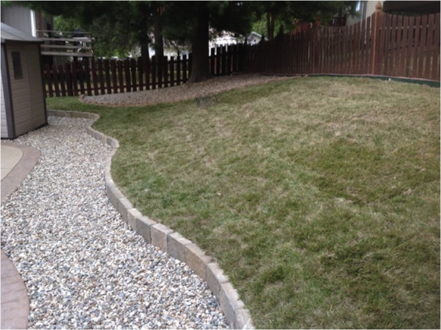 Patio edging