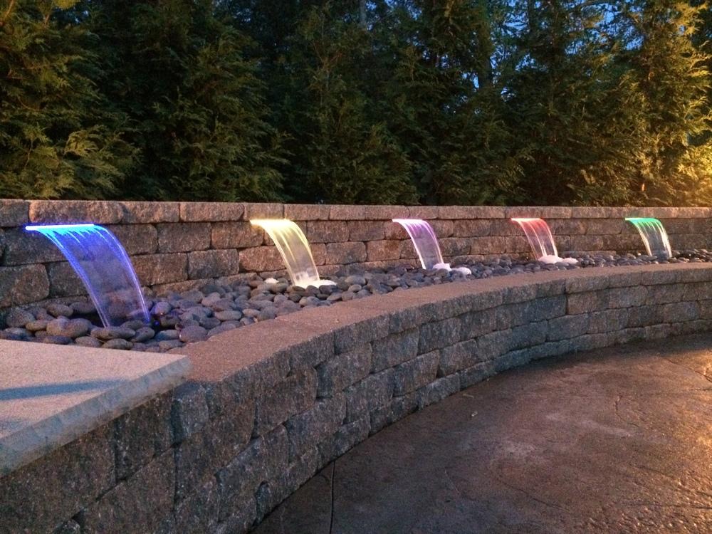 Landscape Lighting Pool Patio Lighting Design - Landscape Design - St Louis & St Charles, MO — Hackmann Lawn & Landscape