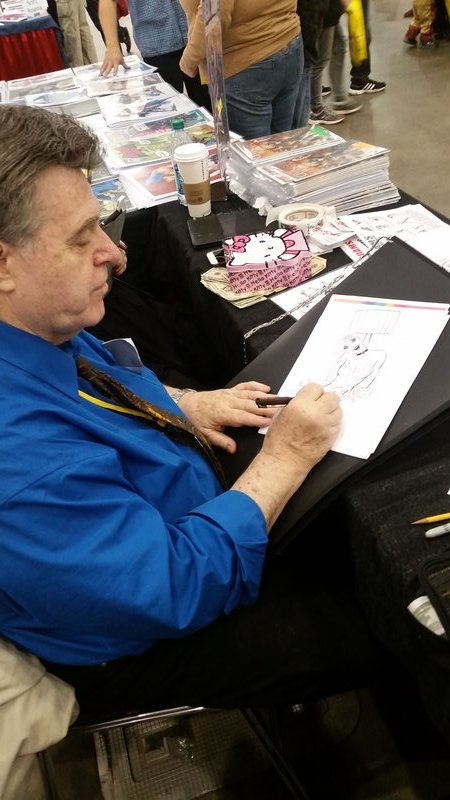 Neal making his way through the stack of Harley Quinn/Deadpool sketch requests. WHY DO YOU ASK NEAL ADAMS TO DO HARLEY QUINN OR DEADPOOL
