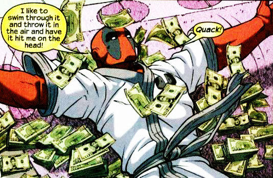 artist interpretation of Ryan Reynolds on Monday, Feb 15 (Image courtesy Marvel Comics)
