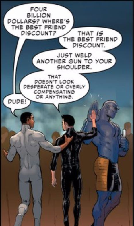 "This is how ""bros"" talk. At least this is how Bendis thinks this is how they talk."