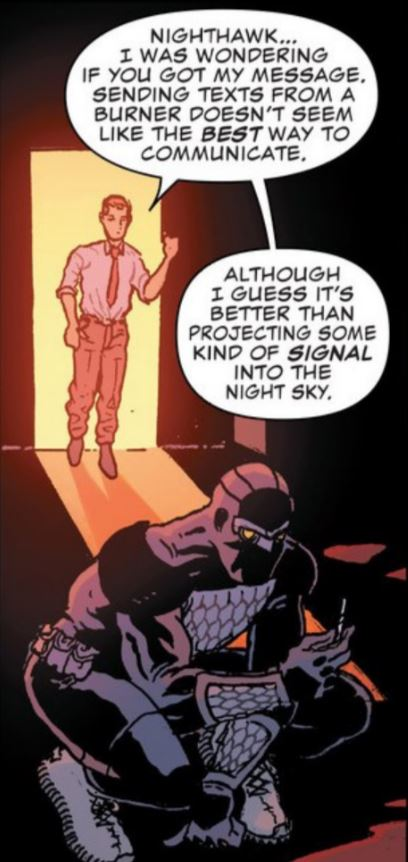 I mean, a symbol in the sky by a police officer to get the attention of a masked vigilante is just silly... right?