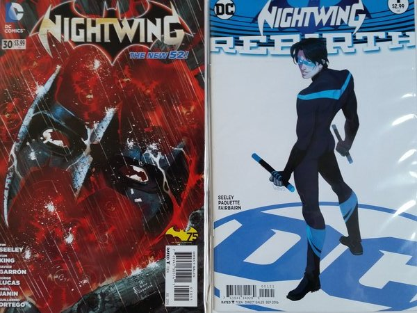 Seeley ended Nightwing, so it's only fair he Rebirths him....wait, that sounds weird.