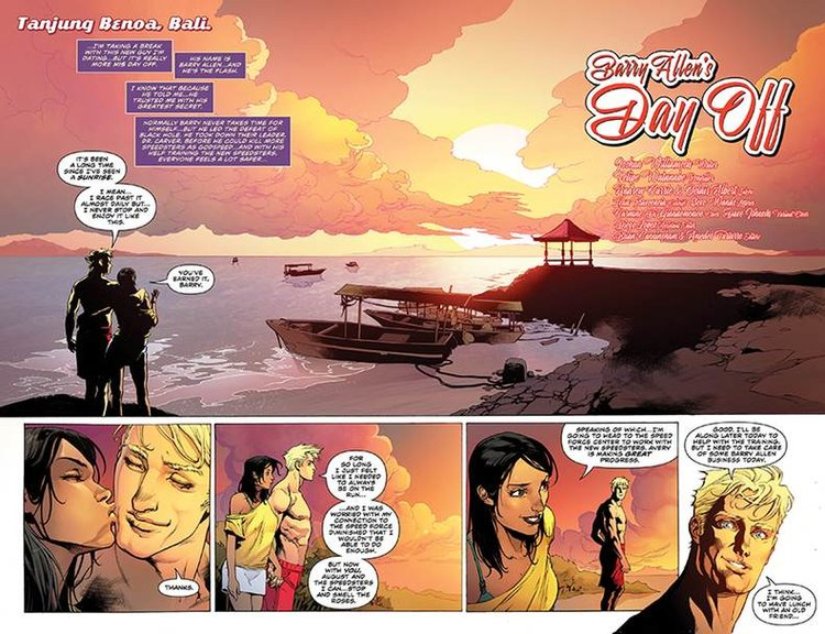 Look at Barry Allen all happy and in love. Would you believe me if I told you that it didn't last?