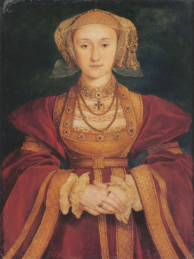 Anne of Cleves, fourth wife of Henry VIII and advocate for bold shoulders in fashion