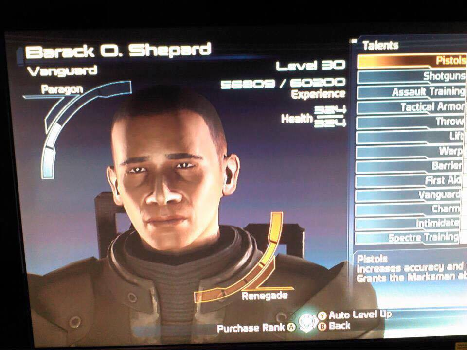 """I'm Commander in Chief Barack O. Shepard, and this is my favorite place on the Citadel"""