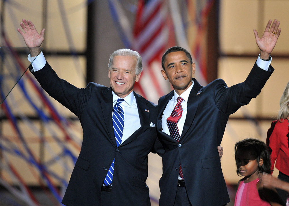 Obama:  I couldn't do this without you, Joe.  Biden:  Sure you could, just not as stylishly.