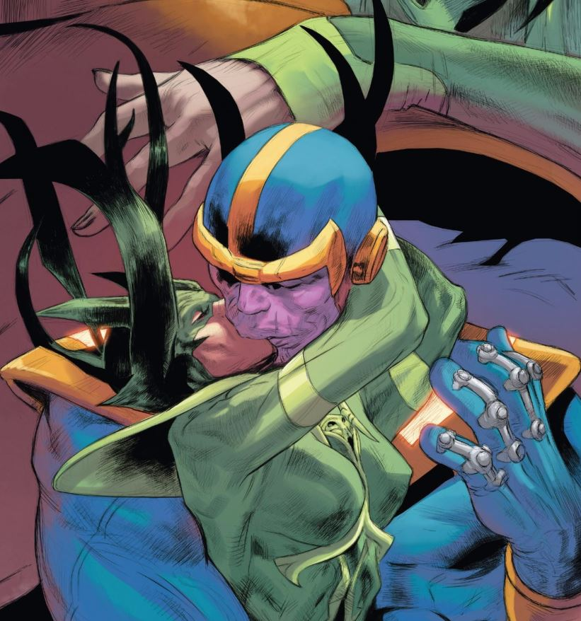 That's Hela Kissing Thanos if you didn't know