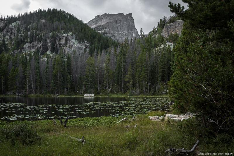 Hallett Peak from Nymph Lake