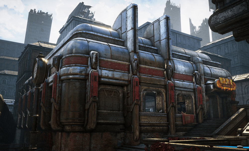 *Responsible for the diner external meshes, materials, and textures.