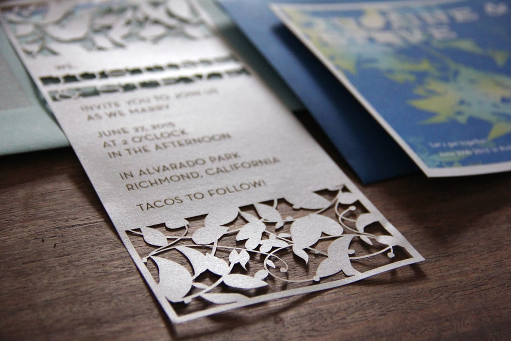 Laser vut invitation by Moonish Goods