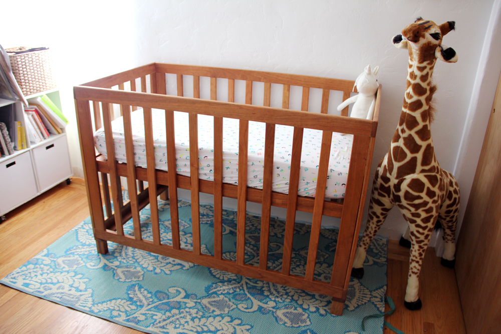 Handmade DIY Cherry Wood Crib