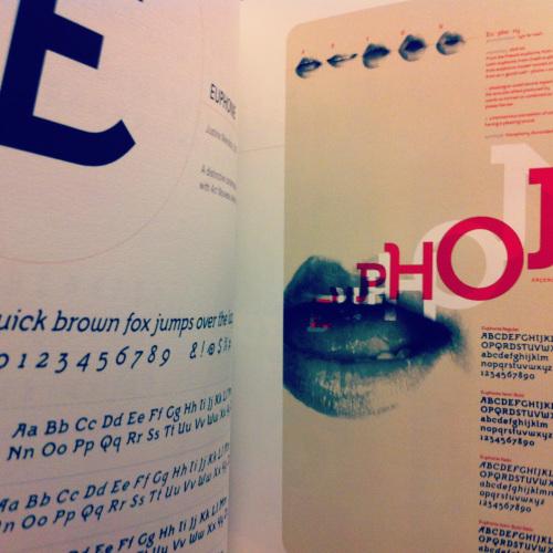 Euphonie Type Specimen, Justine Mendoza student work