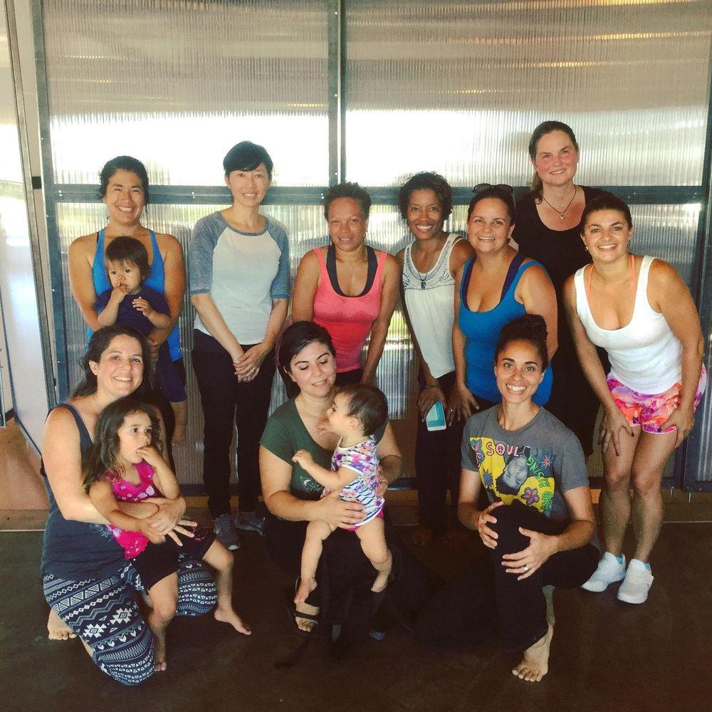 Joyful sweaty mamas after class! -