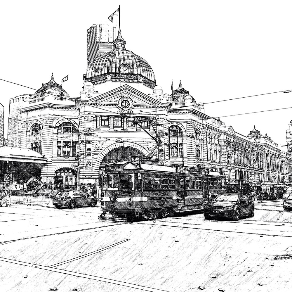 Colour me Melbourne, Original colouring pages of your