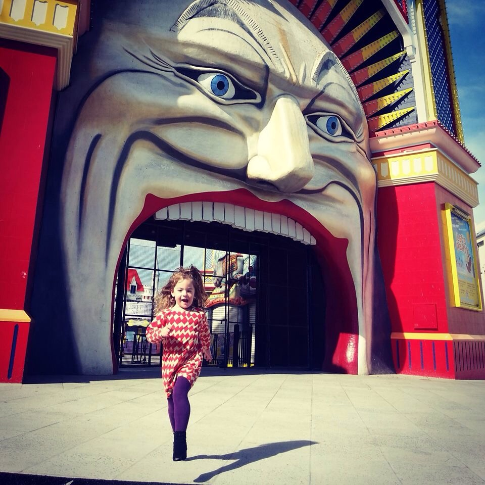 5. Luna Park, St Kilda  Melbourne's iconic Luna Park was always going to make the list. The eerie gaping face as entrance and creaking scenic railway are classic melbourne. The railway is best viewed from on top so jump in the line early as it gets very busy. Also, avoid bad weather as it can be halted for strong winds or rain.