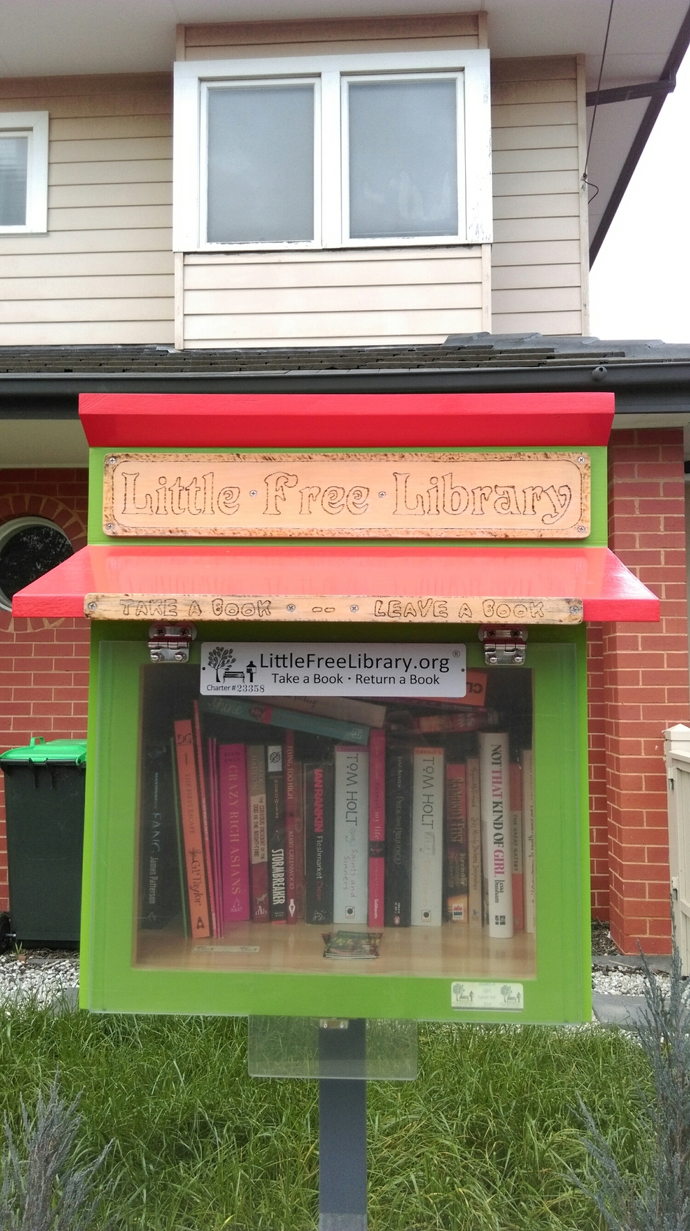 Altona North Little Library, Seventh Ave A very sweet little library, some kids books when we visited and the nice touch of the books having a 'always a gift, never for sale' sticker in them.