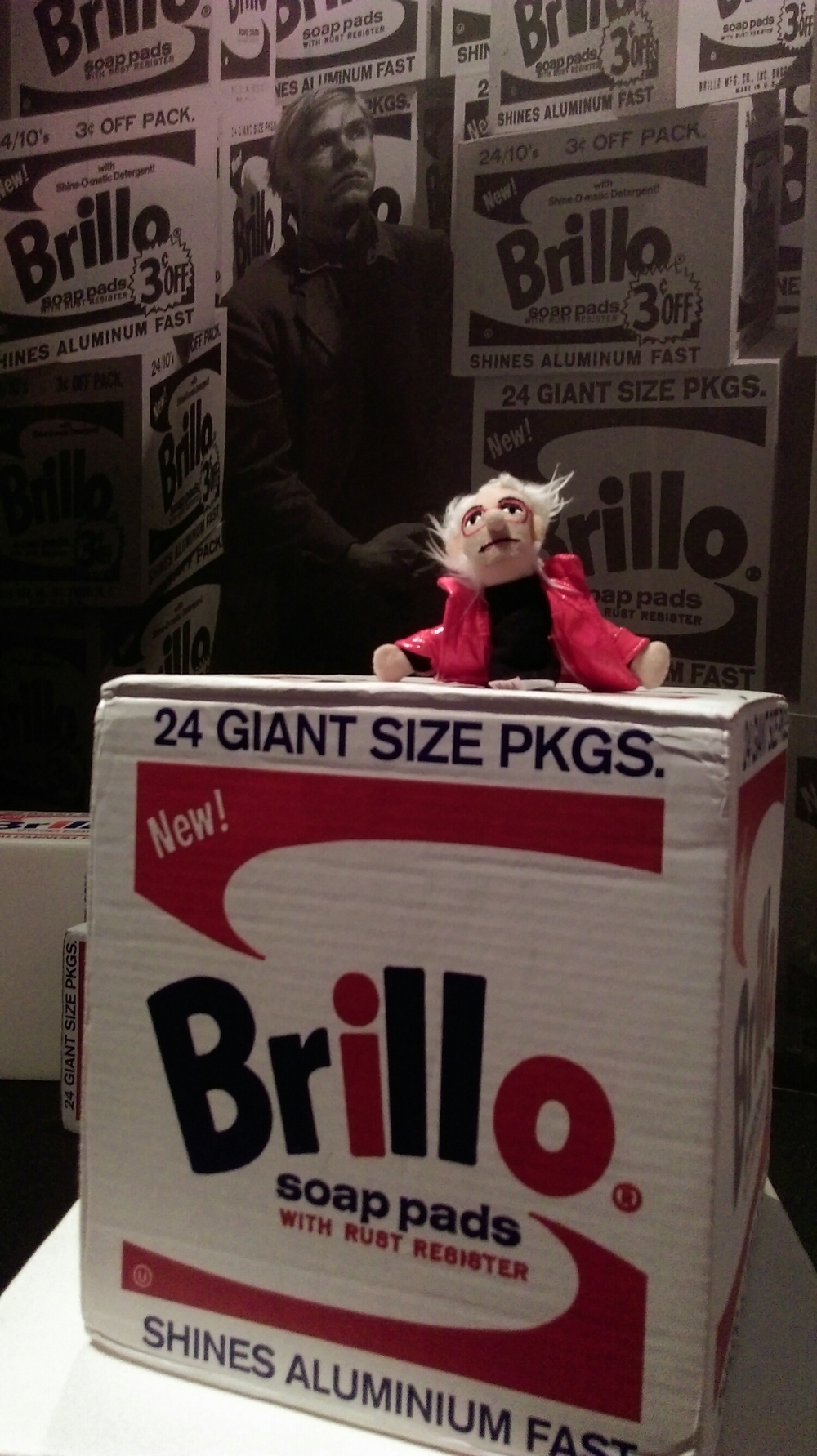 Build a Brillo Box fort and then knock it down in the mirror room.