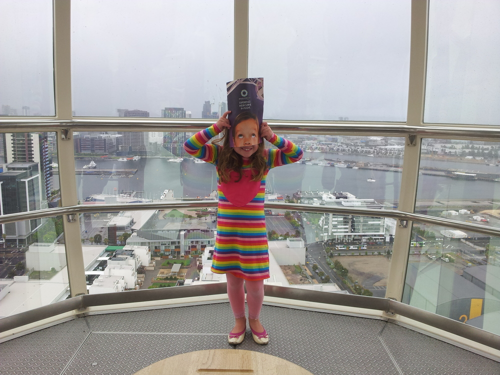 1. The  Melbourne Star . Gorgeous views of Melbourne by day or night and a fun ride for the kids.