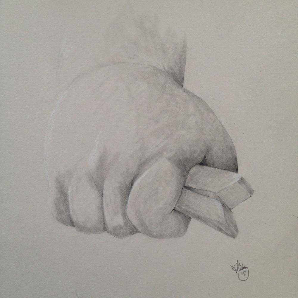 Hand study: Rex ii