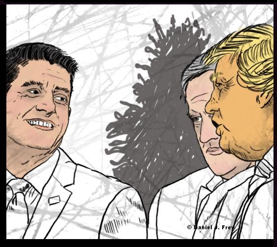 Paul Ryan, Spicer, Trump, Daniel J Frey, Forces Film