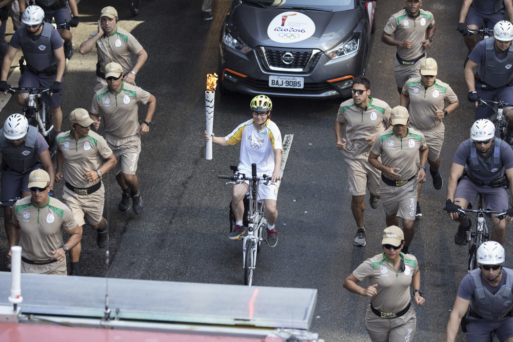 Passagem da Tocha Olímpica. São Paulo, SP. Jul 2016.
