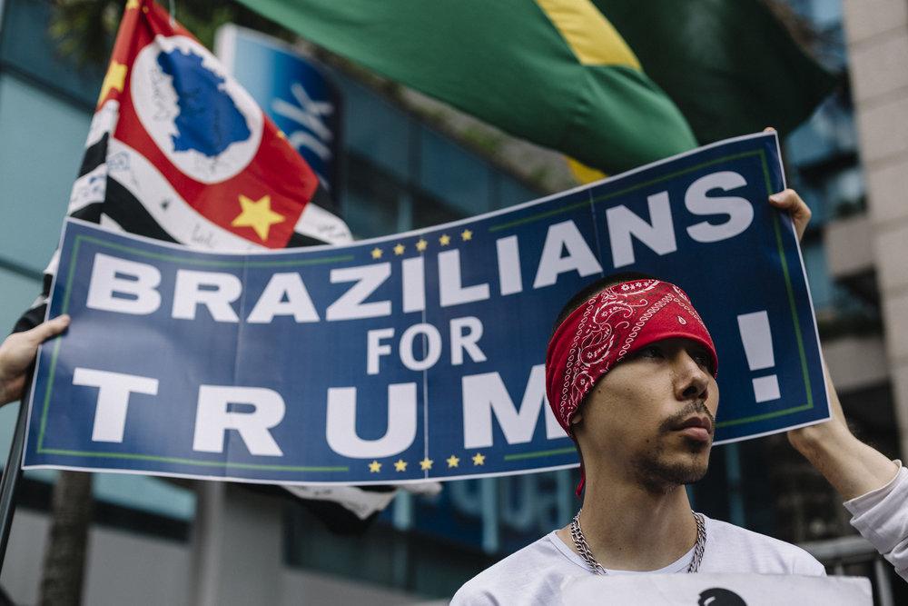 Ato Pró-Donald Trump. São Paulo, SP. Out 2016.