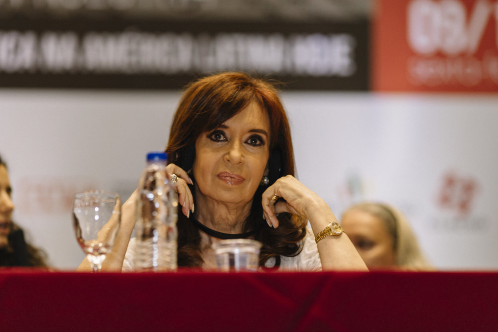 A ex-presidente da Argentina, Cristina Kirschner. Dezembro, 2016.