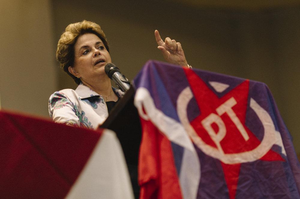 A ex-presidente do Brasil, Dilma Rousseff. Dezembro, 2016.