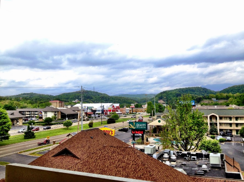 It came with a great view of the Pigeon Forge Parkway!
