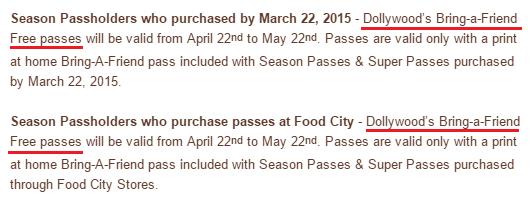 2015  Season Passholder Benefits