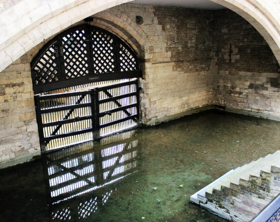 The infamous Traitor's Gate.