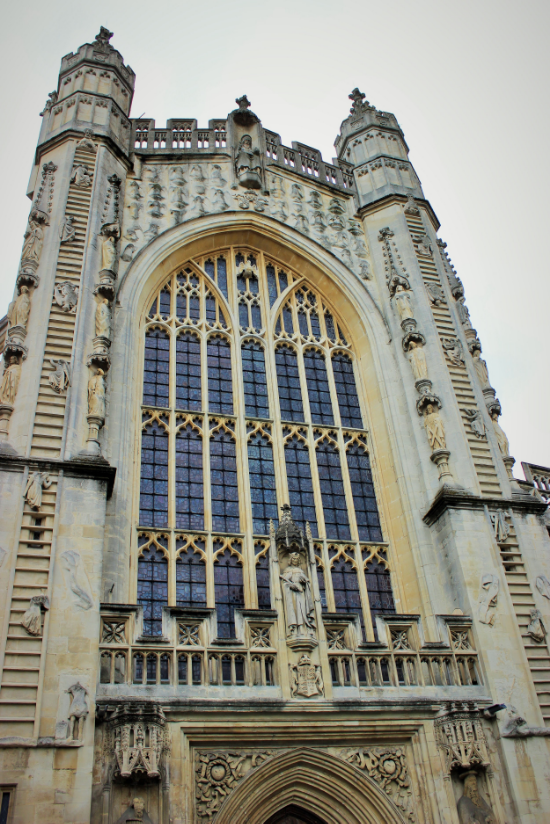 The imposing Bath Abbey.