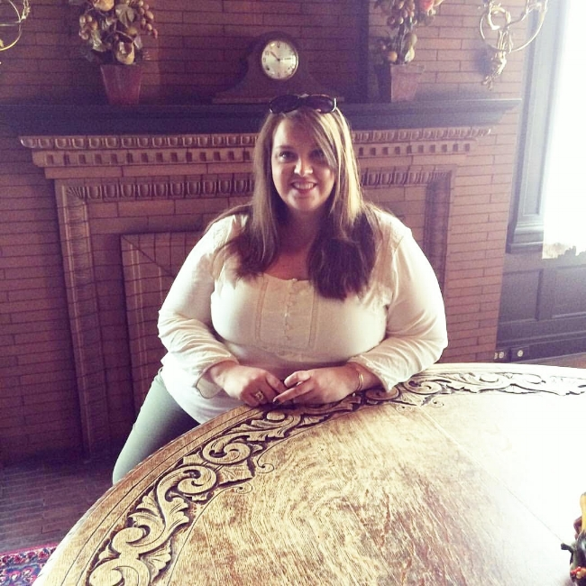Sitting at the same table where Eleanor Roosevelt once sat in Bloomington, Illinois.
