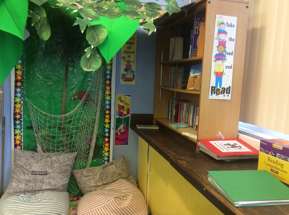 Our brilliant cosy reading area