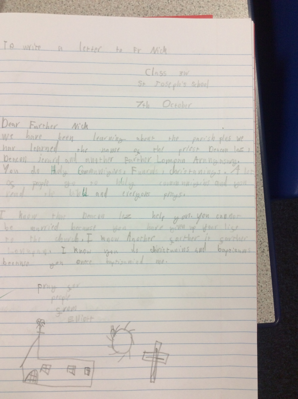 A letter in RE