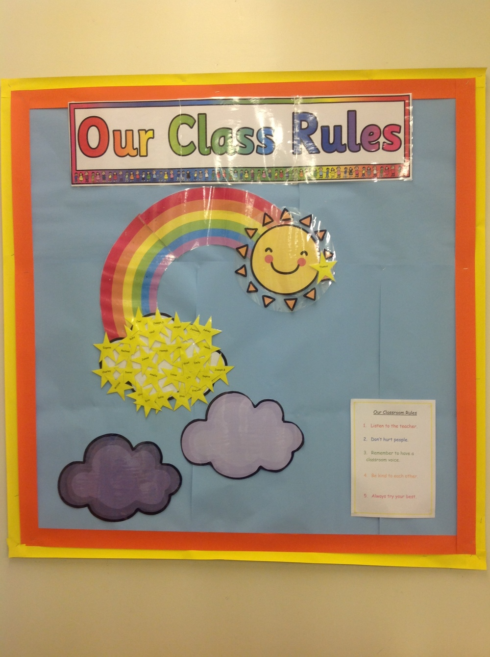 We all agreed our class rules