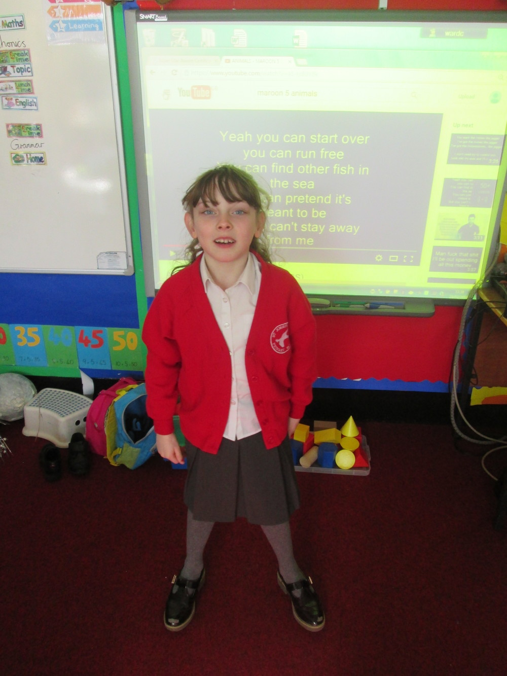 Rosa entertained us with a confident performance of her animal poem. She is also currently writing and performing some animal songs. Miss Ward thinks she might grow up to be the next Adele!