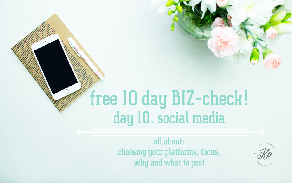 Free BIZ-check, social media! Get to know the strenght and weaknesses of your creative BIZ. Do the free 10 part. BIZ-check and get to know everything you need about your Business. the BIZ-school for creatives blog. Read the full blog post at www.kerstinpressler.com
