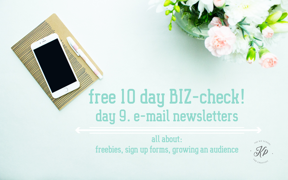 Free BIZ-check, e-mail newsletter! Get to know the strenght and weaknesses of your creative BIZ. Do the free 10 part. BIZ-check and get to know everything you need about your Business. the BIZ-school for creatives blog. Read the full blog post at www.kerstinpressler.com